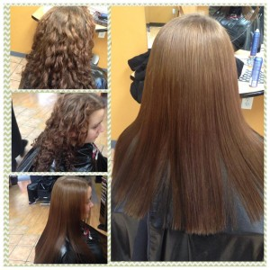 thermal straightening