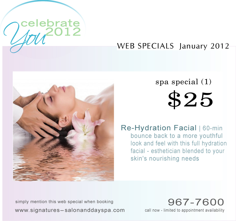 Spa specials signatures salon and day spa altoona ia for 3 day spa